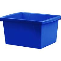 Bac de rangement pour salles de classe Storex, bleu, 15l