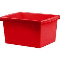 Storex 15 L Red Classroom Storage Bins