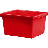Bac de rangement pour salles de classe Storex, rouge, 15l