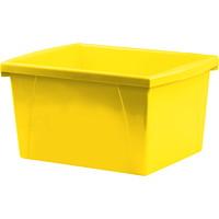 Bac de rangement pour salles de classe Storex, jaune, 15l