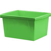 Bac de rangement pour salles de classe Storex, vert, 15l