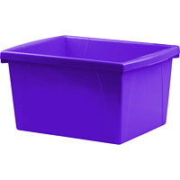 Storex 15 L Purple Classroom Storage Bins