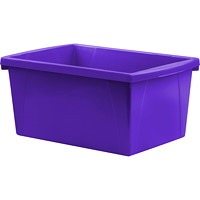 Storex 21 L Purple Classroom Storage Bins