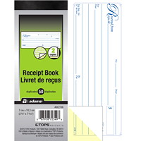 Adams 2-Part Receipt Book, 1/page, 50 receipts