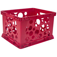 Storex 7 L Premium Red Mini Crate