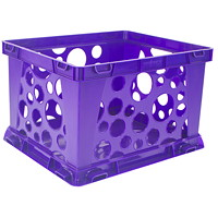 Storex 7 L Premium Purple Mini Crate