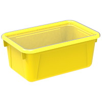 Storex 8 L Yellow Cubby Bins With Transparent Lids
