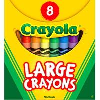 Gros crayons de cire Crayola, emballage de 8