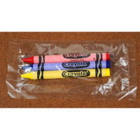 Crayola Crayons, Assorted Colours, 3/PK, 360 Packages/BX (1,080 crayons)