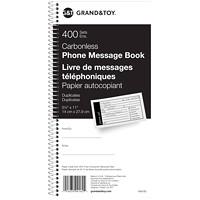Livre de messages téléphoniques Grand & Toy, 11po x 6po