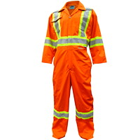 Viking CSA Approved High-Visibility Orange 4XL Coveralls