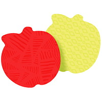 Post-it Super Sticky Die-Cut Notes, Apple, Red/Lime Green, 3