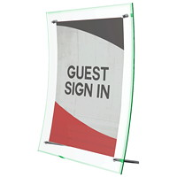 Deflecto Superior Image Curved Sign Holder