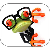 Fellowes Recycled Frog in Glasses Optical Mouse Pad