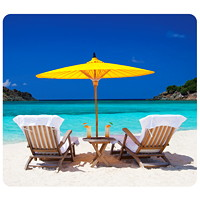 Fellowes Recycled Caribbean Beach Optical Mouse Pad
