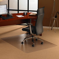 Floortex Cleartex Ultimat General Office and Chair Mat For Low and Medium Pile Carpets, Clear, 35
