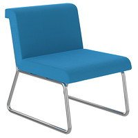 Offices To Go Locate Modular Lounge Seating Single Seater With Back