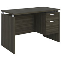 Star Quality Mira Single-Pedestal Grey Dusk Desk