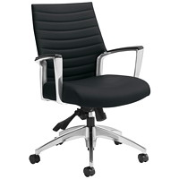 Global Accord Mid-Back Multi-Tilter Chair, Black, Allante Fabric
