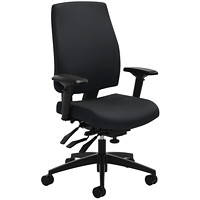 Global G1 Ergo Select Multi-Tilter Chair, High-Back, Black, Terrace Fabric