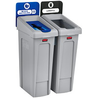 Rubbermaid Slim Jim 2-Stream Recycling Station