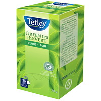 Thé vert pur Tetley, boîte de 25