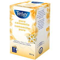 Tisane camomille pure Tetley, boîte de 25