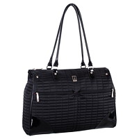 Travelpro Ladies Laptop Tote, Black with Pink Lining, Fits Laptops up to 15.6