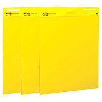 Post-it Super Sticky Self-Stick Yellow Easel Pads, 3/Pk