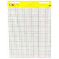 Post-it Super Sticky Self-Stick Blue Grid Easel Pads, 2/Pk