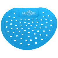 Globe Commercial Products Vinyl Urinal Screen, Blue, Bubble Gum Scented