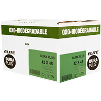 Dura Plus Elite OXO-Biodegradable Garbage Bags, Black, 42