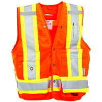 Viking Bright Orange Large Surveyor Safety Vest