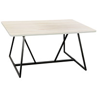 Safco Oasis Sitting Teaming Table, Weathered White, 60