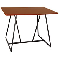 Safco Oasis Standing Teaming Table, Cherry, 60