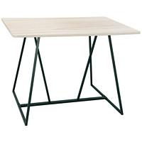 Table pour travail collaboratif debout Safco Oasis, blanc patiné, 60poL x 48poP x 42poH
