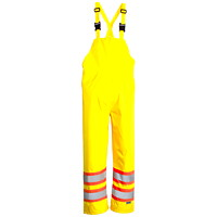Open Road High-Visibility Safety Green 150D Large Bib Pants