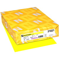 Neenah Astrobrights Cover Paper, Lift-Off Lemon, Letter-Size, FSC And Green Seal Certified, 65 lb., Ream
