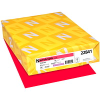Neenah Astrobrights Cover Paper, Rocket Red, Letter-Size, FSC And Green Seal Certified, 65 lb., Ream