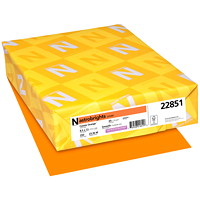 Neenah Astrobrights Cover Paper, Cosmic Orange, Letter-Size, FSC And Green Seal Certified, 65 lb., Ream