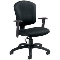 Global Supra-X Black Mid-Back Task Chair