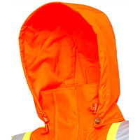 Viking Professional Journeyman 300D Detachable Snap-On Hood, Bright Orange