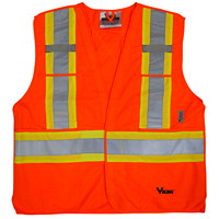 Veste de sécurité orangé vif détachable en 5 points Viking, TTG / TTTG
