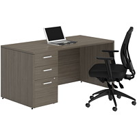Bureau demi-ministre 60 po Acajou absolu Ionic Offices To Go