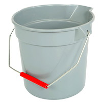 Globe Commercial Products 11-Quart Grey Easy Pour Bucket
