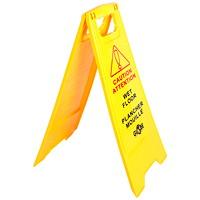 Panneau d'avertissement de plancher mouillé français/anglais Globe Commercial Products