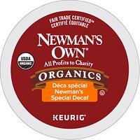 Dosettes K-Cup de café torréfaction moyenne Newman's Own, déca spécial, boîte de 12