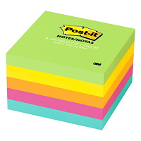 Feuillets Post-it, collection Jaipur, non lignés, 3 po x 3 po, blocs de 100 feuillets, emb. de 5
