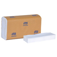 Tork 1-Ply Advanced Multifold Hand Paper Towels, White, 250 Sheets/PK, 16/CS