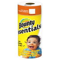 Essuie-tout 2 épaisseurs en rouleau simple Bounty Essentials, 40 feuilles, blanc